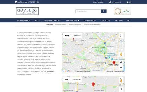 Screenshot of Locations Page govbergwatches.com - Store Locations | Concierge Team - captured Sept. 23, 2018