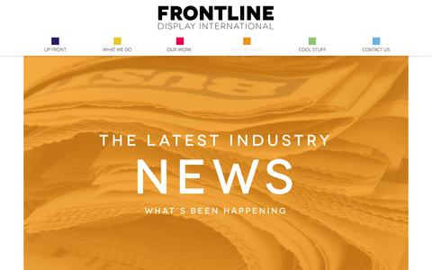 Screenshot of Press Page frontlinedisplay.com - News & Views | Frontline Display International - Point of Purchase Display and Marketing - captured Oct. 14, 2017