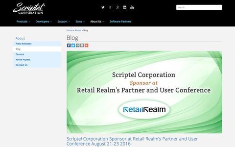 Screenshot of Blog scriptel.com - Blog - Scriptel.com - captured Aug. 16, 2016