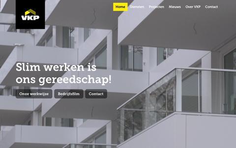 Screenshot of Home Page vkpbouw.com - Home - VKP Bouw - captured Feb. 15, 2016