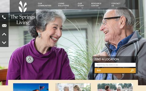 Screenshot of Home Page thespringsliving.com - Senior Living in McMinnville, OR | The Springs Living - captured Dec. 5, 2015