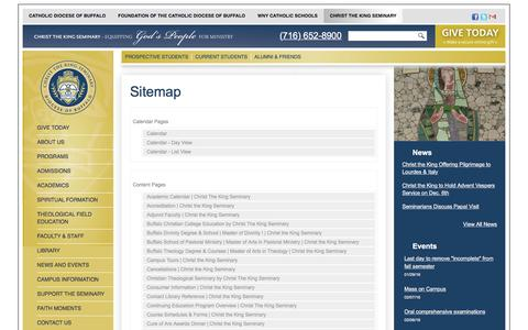 Screenshot of Site Map Page cks.edu - Website Sitemap - captured Jan. 28, 2016