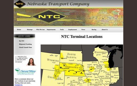 Screenshot of Locations Page nebt.com - NTC | Terminal Locations - captured Oct. 6, 2014