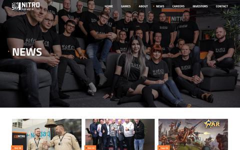 Screenshot of Press Page nitrogames.com - News - Nitro Games - captured Nov. 4, 2017