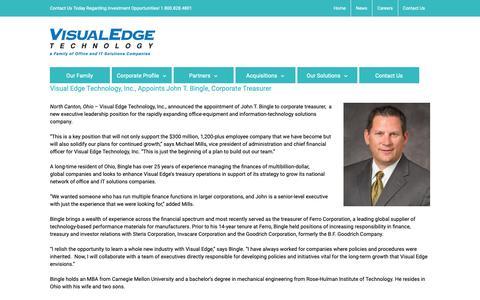 Screenshot of Press Page visualedgetechnology.com - News Archives - Visual Edge Technology - captured Oct. 19, 2018
