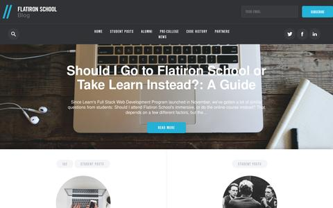Screenshot of Blog flatironschool.com - Flatiron School - captured Jan. 8, 2016
