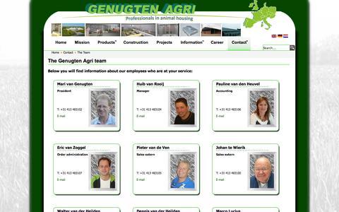 Screenshot of Team Page genugten-agri.nl - The team | Genugten Agri - captured Oct. 2, 2014