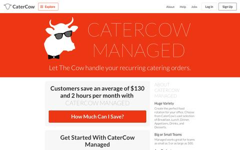 Screenshot of catercow.com - CaterCow Managed - captured March 19, 2016