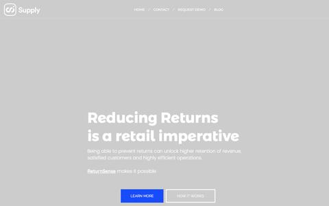 Screenshot of Home Page supply.ai - SupplyAI – Cognified Commerce - captured May 5, 2017