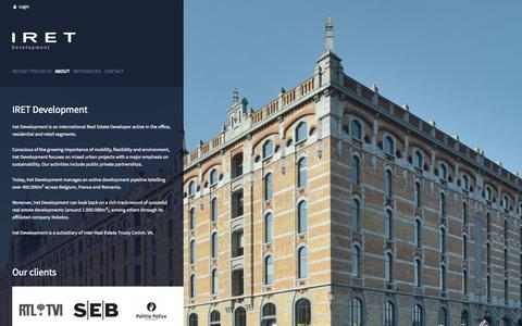 Screenshot of About Page iret.be - About IRET Development | IRET Development - captured Oct. 6, 2014