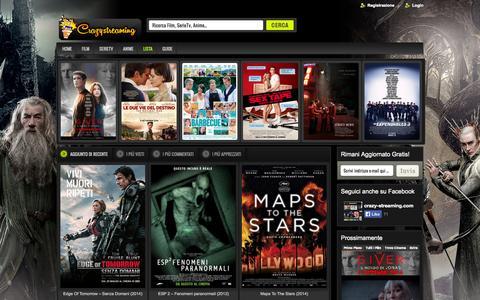 Screenshot of Home Page crazy-streaming.com - Crazy-Streaming.com   Free Blog Streaming   Il Portale Gratuito dello Streaming - captured Sept. 19, 2014
