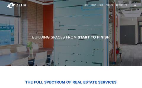 Screenshot of Services Page zehrgroup.ca - Services - Zehr - captured July 13, 2018