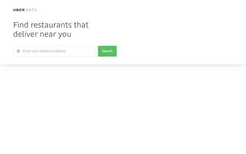 Food Delivery at the Tap of a Button   UberEATS