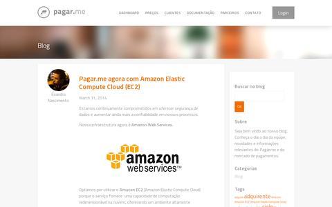 Screenshot of Blog pagar.me - Blog | Pagar.me - captured July 19, 2014