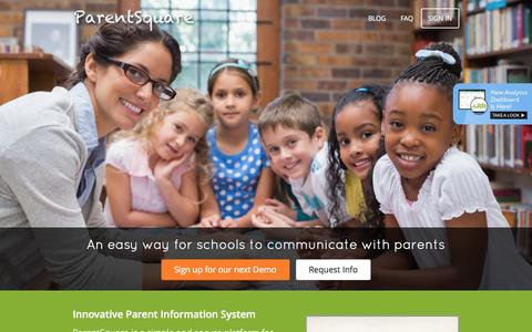 Screenshot of Home Page parentsquare.com - ParentSquare | Involve EVERY Parent - captured July 18, 2015