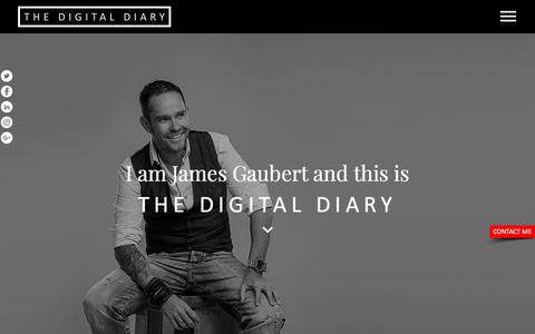 Screenshot of Home Page the-digital-diary.com - The Digital Diary | All Things Digital by James Gaubert - captured July 9, 2018