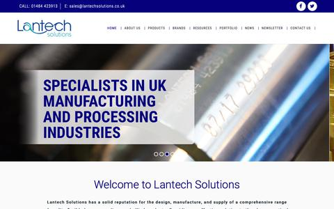 Screenshot of Home Page lantechsolutions.co.uk - Lantech Solutions Ltd - Manufacturers of Flexible Hoses & Couplings - captured Sept. 27, 2018