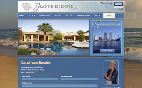 Screenshot of Contact Page landinjax.com - Jeanne Eisenstein, Green Cove Springs FL Real Estate Agent   LandInJaxCom - captured Oct. 27, 2014