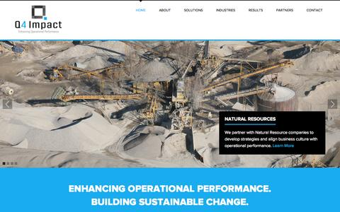 Screenshot of Home Page q4impact.com - Q4 Impact Group - Enhancing Operational Performance - captured Oct. 1, 2014