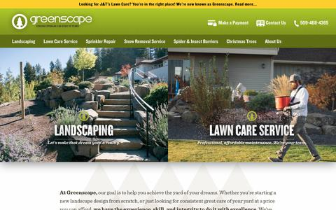 Screenshot of Home Page spokanegreenscape.com - Spokane Landscaping and Lawn Care by Greenscape - #1 in Spokane - captured Sept. 20, 2017