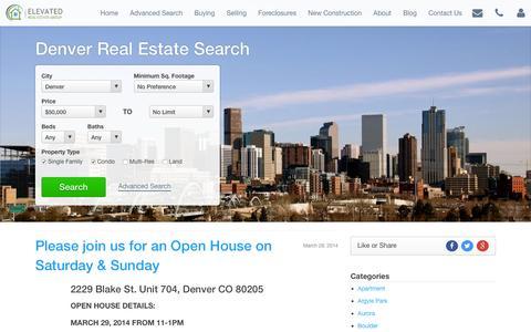 Screenshot of Blog denver-urban-homes.com - Denver Real Estate Blog   Denver Homes for Sale   Denver MLS Listings   Denver-Urban-Homes.com - captured Feb. 9, 2016