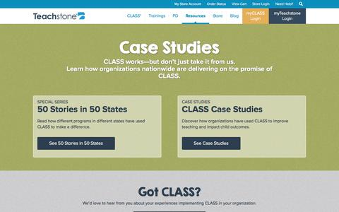 Screenshot of Case Studies Page teachstone.com - Case Studies | Teachstone - captured Jan. 12, 2016