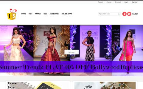 Screenshot of Home Page iluvshopping.in - Online Shopping India - Mobiles Phones Accessories, Laptops, Watches, Cameras & More at ILuvShopping - captured Jan. 29, 2015