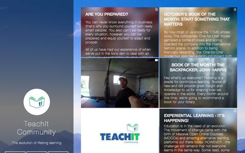 Screenshot of Blog teachitcommunity.com - TeachIt Community - captured Oct. 26, 2014