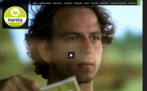 Screenshot of Home Page ranitaproducciones.com - Ranita - Ranita Producciones - captured Feb. 23, 2016