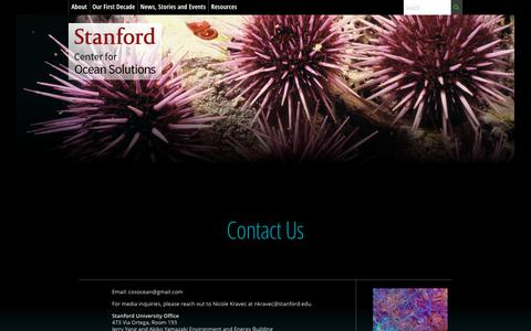 Screenshot of Contact Page stanford.edu - Contact Us | Center for Ocean Solutions - captured Sept. 27, 2018