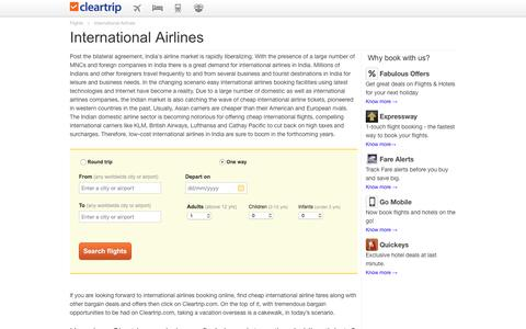 International Airlines in India | Book Cheap International Airline Tickets at Cleartrip