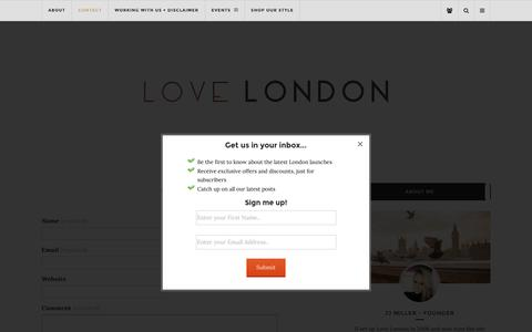 Screenshot of Contact Page love-london.co.uk - Contact   Love London   Lifestyle Blog - captured Dec. 26, 2016