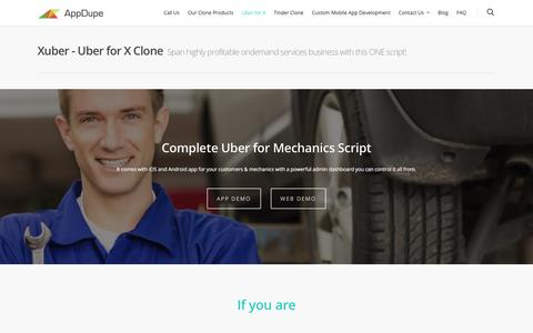 Xuber – Uber for X Clone Script |  APPDUPE