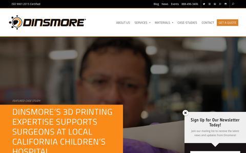 Screenshot of Case Studies Page dinsmoreinc.com - Case-Studies Archive - Dinsmore, Inc. - captured Dec. 13, 2017