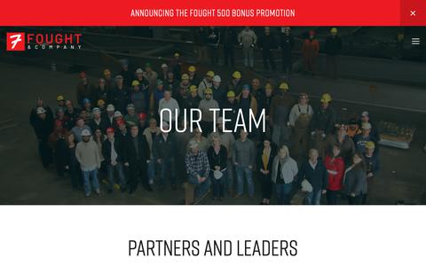 Screenshot of Team Page foughtsteel.com - Our Team — Fought & Company - captured Oct. 11, 2018