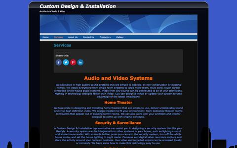 Screenshot of Services Page cdistl.com - Services | Custom Design & Installation - captured March 11, 2016