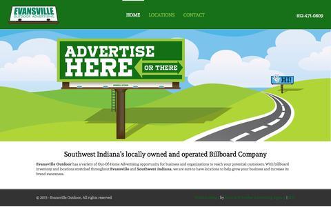 Screenshot of Home Page evansvilleoutdoor.com - Billboard, Out-of-Home Advertising Evansville IN |Evansville Outdoor - captured June 22, 2015