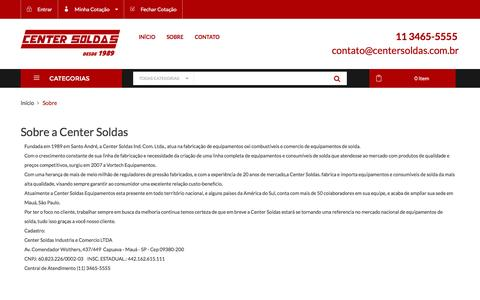 Screenshot of About Page centersoldas.com.br - Sobre - captured July 12, 2016