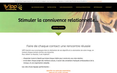 Screenshot of Home Page vippinterstis.com - Vipp Interstis - 1er centre de contacts d'afrique sub-saharienne - captured Oct. 12, 2018