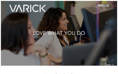 Screenshot of Jobs Page varickmm.com - Varick - captured Oct. 19, 2017