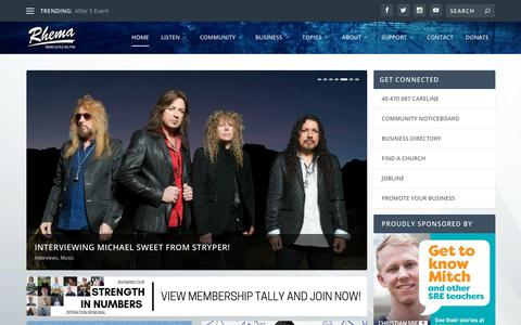 Screenshot of Home Page rhemafm.com.au - | Rhema FM Newcastle - captured Sept. 24, 2018