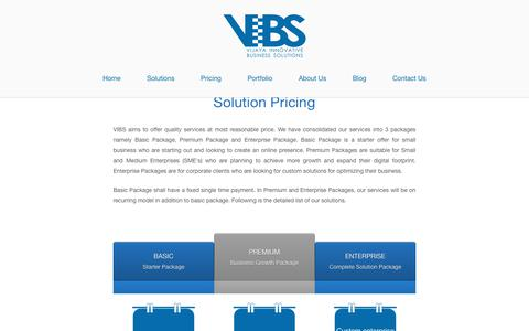 Screenshot of Pricing Page vibs.co.in - Pricing - Vijaya Innovative Business Solutions - captured Nov. 4, 2017