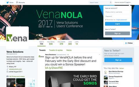 Vena Solutions (@venasolutions) | Twitter