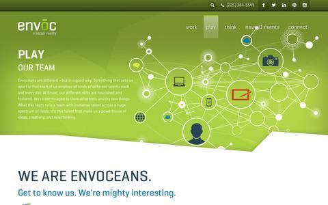 Screenshot of Team Page envoc.com - Our Team - Meet the Envoceans | Envoc - captured July 17, 2018