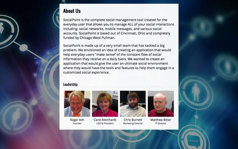 Screenshot of About Page socialpoint.me - SocialPoint - About Us - Social Media Management - captured Oct. 26, 2014