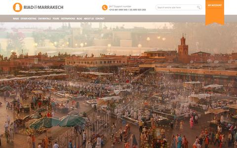 Screenshot of Home Page riadamarrakech.com - Riads in Morocco | Riads in Marrakech: Hostels in Morocco, best bed and breakfast and guest house - captured Sept. 12, 2015