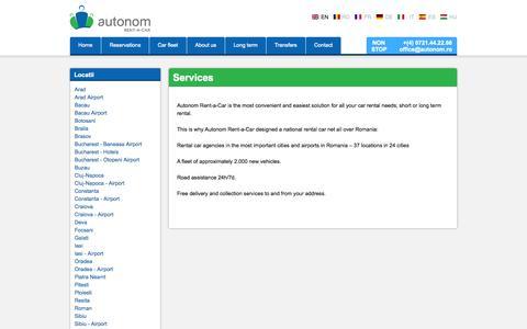 Screenshot of Services Page autonom.com - Services | autonom.ro - captured Oct. 4, 2014