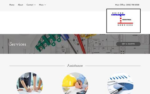 Screenshot of Services Page uis-ky.com - Services | United Industrial Services, LLC - captured Oct. 18, 2018