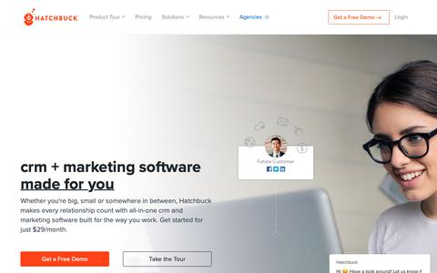 Screenshot of Home Page hatchbuck.com - Marketing Software, CRM and Marketing Automation Built for You - captured April 4, 2019