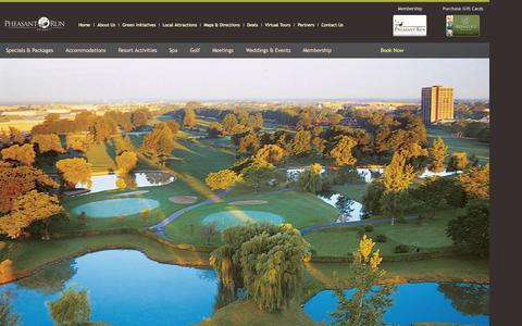 Screenshot of Privacy Page pheasantrun.com - Chicagoland Resorts | Pheasant Run Resort Website Privacy Policy - captured Oct. 2, 2014